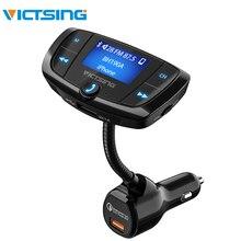 VicTsing Bluetooth Trasmettitore FM QC3.0 Auto Radio Adapter Wireless Chiamate a Mani Libere Dual Porte USB Lettore mp3 Radio Trasmettitori