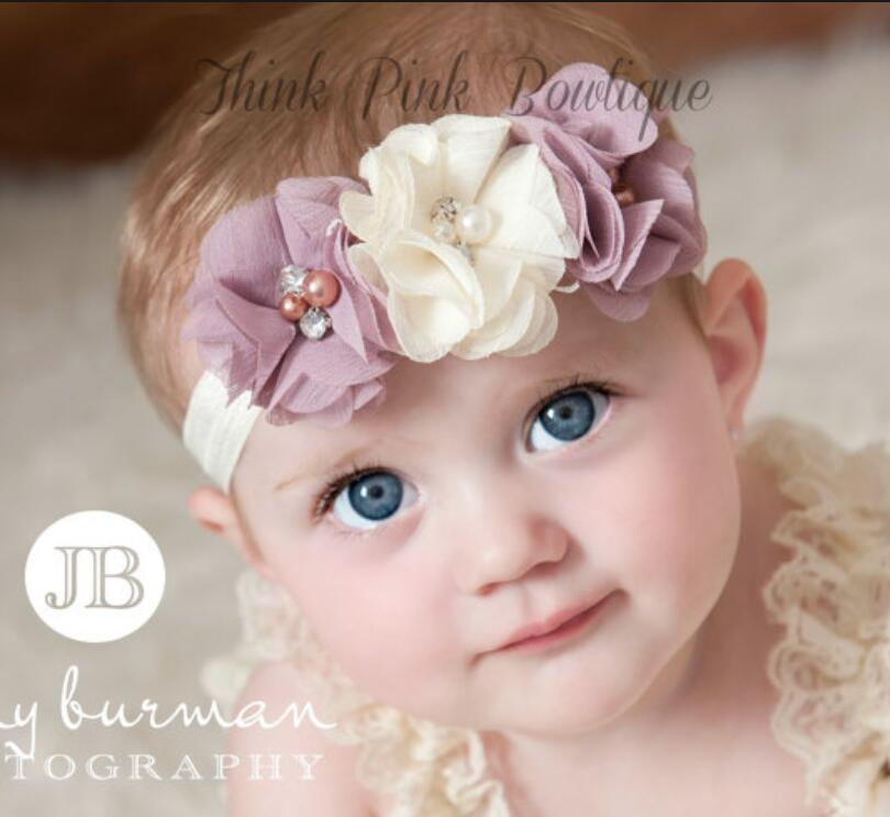 JRFSD 1Pcs Hot Sell Headband With 3 Flower Pearl Diamond Hair Bands Headbands for Girl Elastic Kids Hair Accessories jrfsd 1pcs hot sell girls headband with 3 or 6 flower pearl diamond hair bands headbands for girl elastic kids hair accessories