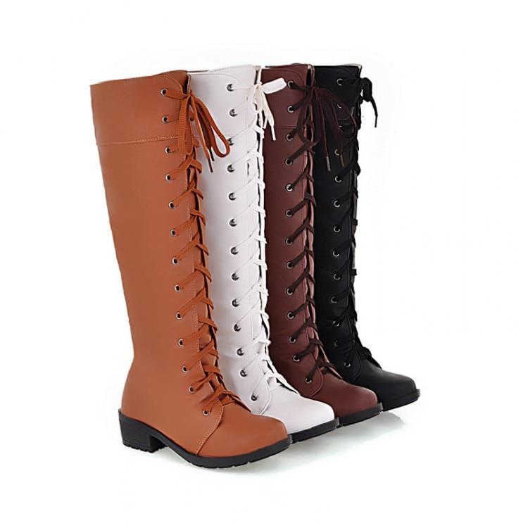 ФОТО Winter Boots Botas Mujer Shoes Women Boots Fashion Motocicleta Mulheres Martin Outono Inverno Botas De Couro Femininas 588-6