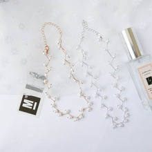 SUKI New Fashion Simulated Pearl Choker Necklaces for Women colar Necklace Pendant on Neck Bohemian Jewelry