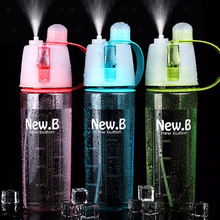 Deportes Diseño de Pulverización de Paja Botella de Agua 400 ML/600 ML Libre de Bpa Botellas De Plástico Bicicleta de La Bici Taza de Bebida la Taza del espacio