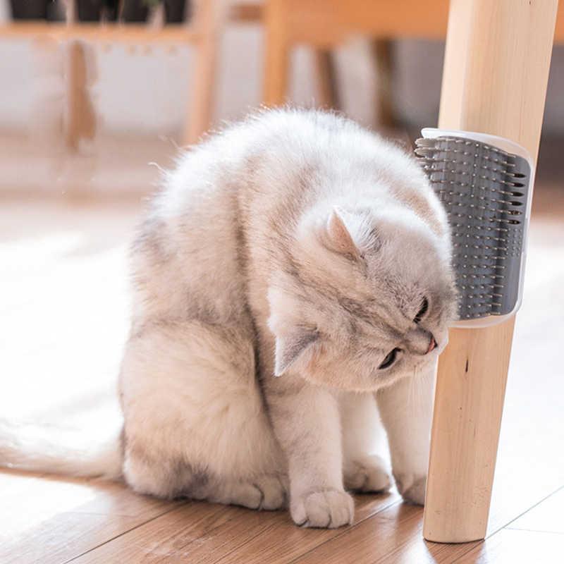 Угловой Pet щетка для вычесывания животных гребень играть кошки игрушка новизны щетина Арка самостоятельно грумер игрушки для кошек скребок Пластик С Кошачьей Мятой