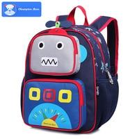 Kids Baby Bags Children Boys Robot Character Design Schoolbag Kids Schoolchild Backpack 5 to 9 years Boys Satchel Bags