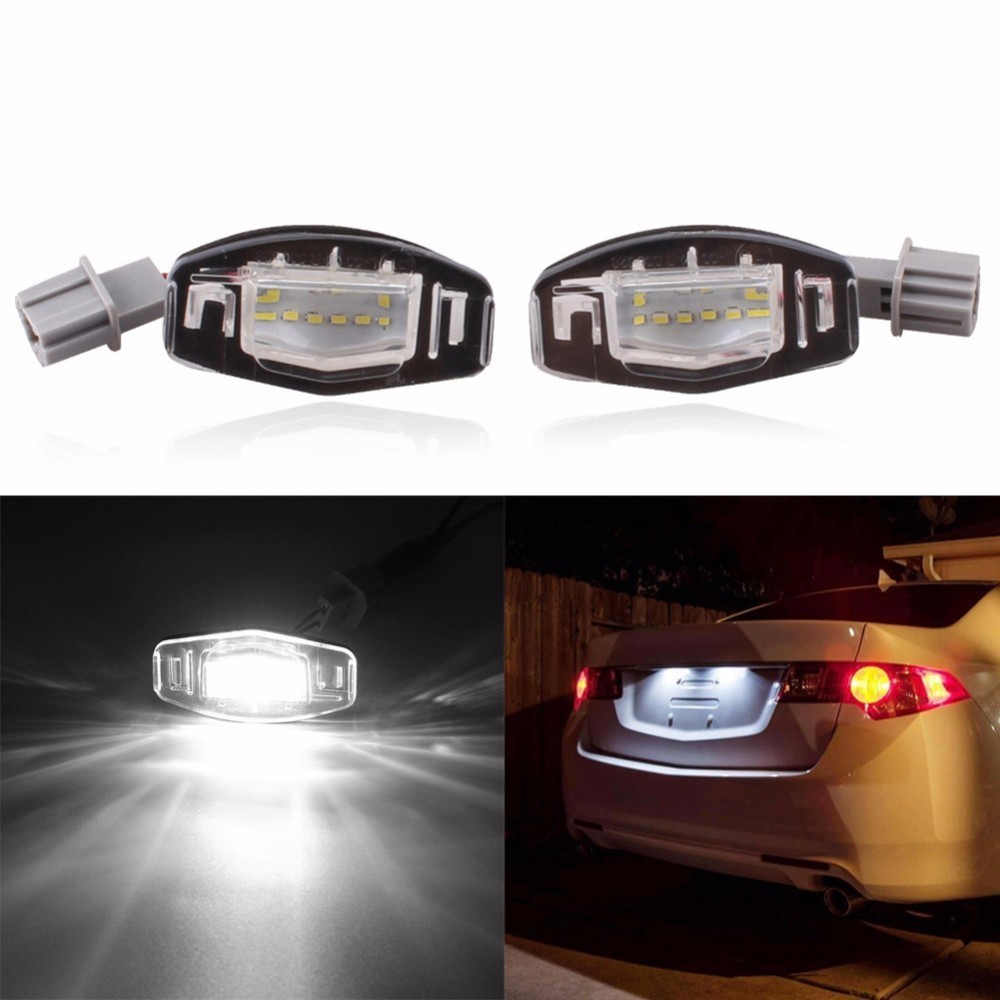 2Pcs 18 LED License Plate Lights Number Plate Lamp For Honda/Accord/Odyssey/Acura/TSX/Civic 01-05 новый генератор подходит для honda accord odyssey 2 3l f20b 2 0l oem 31100 p5m 0030