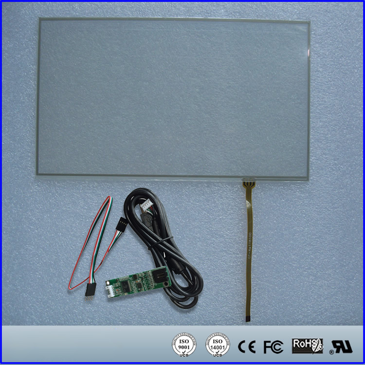 10.1inch Resistive Touch Screen Panel 230.6mmx135.68mm 4Wire USB kit for monitor10.1inch Resistive Touch Screen Panel 230.6mmx135.68mm 4Wire USB kit for monitor