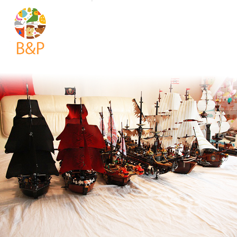 LEPIN Pirates of the Caribbean black Pearl Queen Anne's 4195 4184 Building Block Brick Toys For Children Gift compatible legoing compatible with lego 4195 models building toy 39008 1222pcs queen anne s revenge pirates of caribbean building blocks