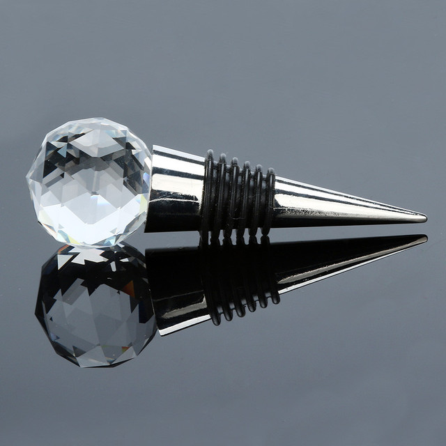 Diamond and Crystal Shaped Stainless Steel Bottle Stopper