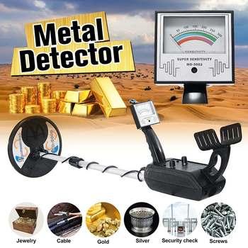Водонепроницаемый глубокий чувствительный подземный металлоискатель MD-5002 детекторы золота MD5002 LCD детектор сокровищ металлоискатель цепи