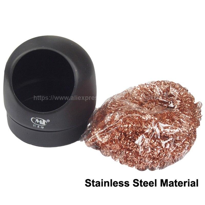 Limpiador de punta de hierro de soldadura antiestática CMT-599B con soporte-negro (1 Unidad)