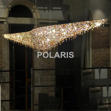 Modern Luxury LED Lead Crystal Chandelier Lighting Hanging Lights / Lamps for Villa Dining Room Hotel Centerpieces Decoration