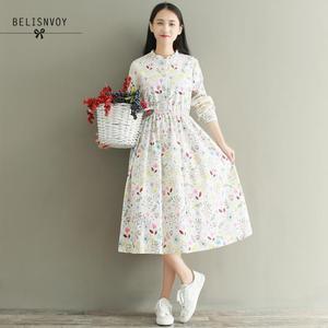 Image 5 - Mori menina outono inverno feminino robe babados veludo vestidos de festa manga longa lindo doce floral impresso vestidos femininos
