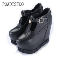 POADISFOO 2018 New Women's Sexy Super High Heels Platform Pumps Boots Nightclub sexy girls female Boots Belt Buck .ZYW 018 7