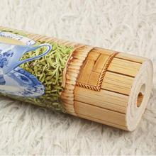 2 colors Southeast Asia 3D bamboo background wallpaper Chinese retro 3D relief murals wallpaper roll Waterproof wall paper roll