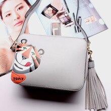 2016 Fashion Women Flap Bag Genuine Leather Hobos Bag Ladies Brand Messenger bag girls Cute Handbags