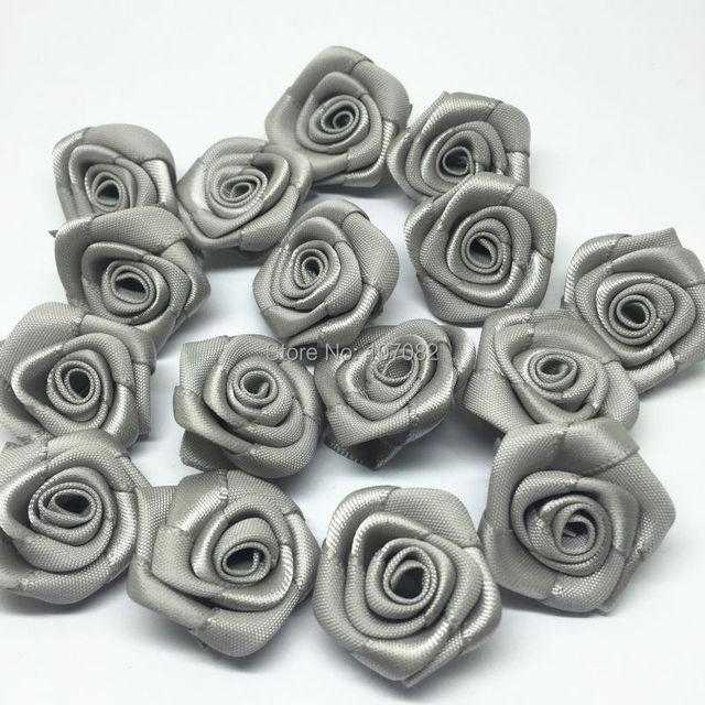 4d024e9d7c352 100 قطع 25 ملليمتر الشريط الورود الزهور الزخرفية زهرة باقات زفاف الزينة  الزينة رمادي اللون