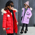 Decals Fashion Girls Cotton-padded Clothes Jackets/coats Winter Russia Baby Coats Thick Warm Jacket Children Outerwears Jackets