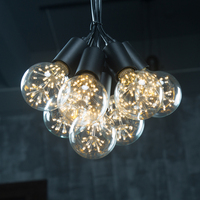 Vintage 7 Heads Black Iron Pendant Lights Art Decoration Industrial E27 Lamps Loft Living Room Hotel