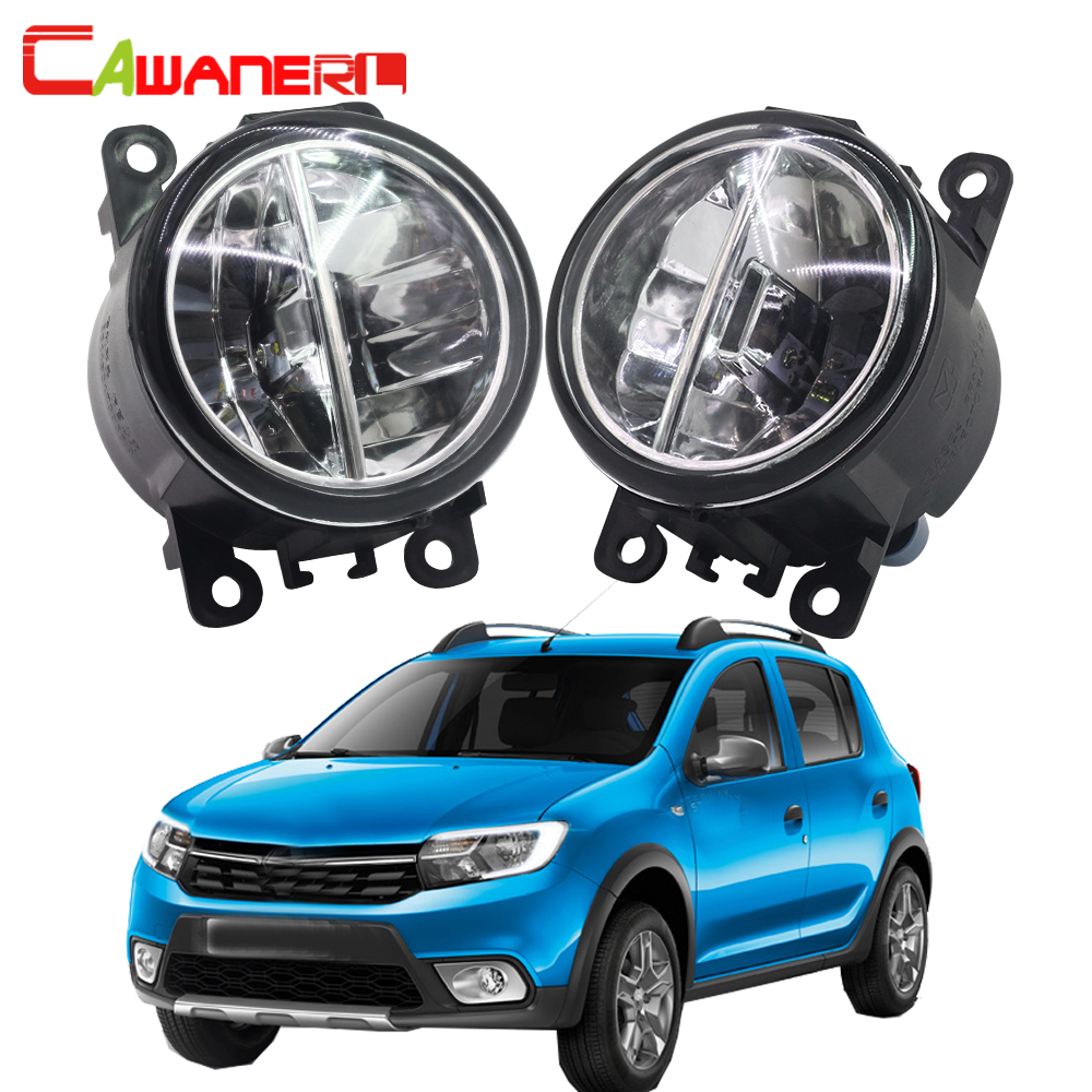 Cawanerl For Renault Sandero / Stepway Hatchback 2008-2015 Car LED Fog Light 4000LM DRL Daytime Running Light 6000K White 12V сетка на решетку радиатора renault sandero