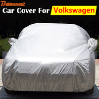 Buildreamen2 Automotive Cover Outdoor Sun Rain Snow Resistant Anti UV Car Cover For Volkswagen VW EOS FOX Sharan Touareg Polo