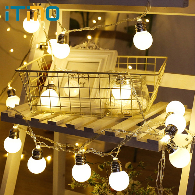 Garland With Lights Outdoor Itimo led string fairy lamps 20 leds for new year christmas globe itimo led string fairy lamps 20 leds for new year christmas globe garland lights ball string workwithnaturefo