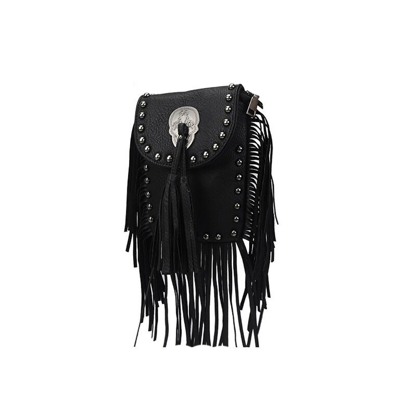 New Vintage Bohemian Fringe Messenger Crossbody Bag Purse Women Tassel Boho Hippie Gypsy Fringed Tote Handbag Womens (27)