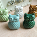 48mm*38mm Cartoon Owl Handle Cabinet Cupboard Drawer Ceramic Knob Pulls Furniture Handle Knob Wardrobe Kids Dresser Pulls Knob