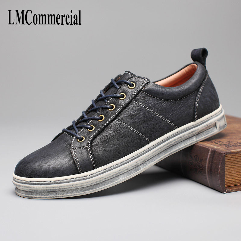 spring and autumn new Men's leather shoes young casual shoes British retro breathable sneaker fashion boots men Leisure shoes autumn winter european british retro men shoes male leather breathable sneaker fashion boots men casual shoes handmade fashion