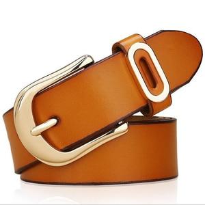 Image 5 - Cinturón de diseñador actual para mujer, cinturones de lujo de marca famosa, correa de cintura para mujer, cinturón con hebilla de cuero genuino