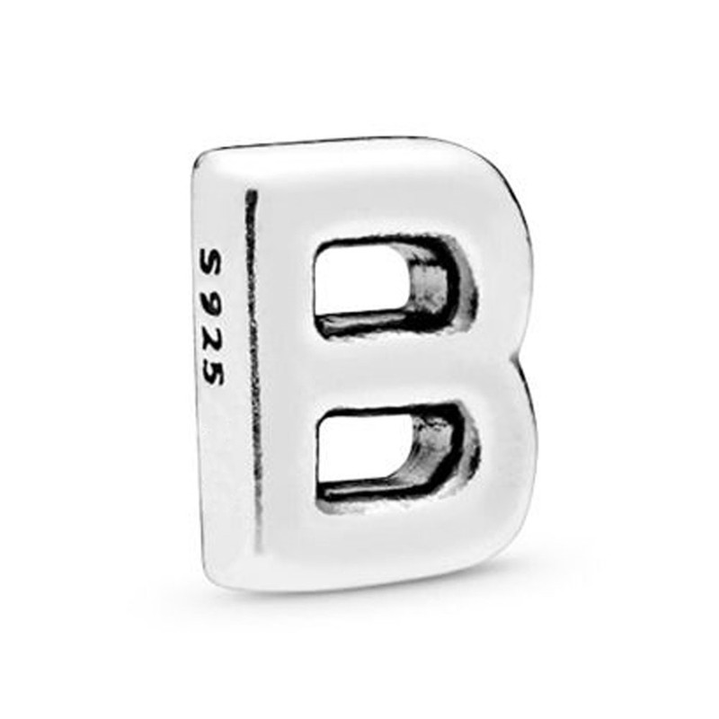 925 Sterling Silver DIY Alphabet Letters A Z Petite Charm Bead Fit Women Floating Lockets for Pandora Bracelet Bangle Necklace in Beads from Jewelry Accessories