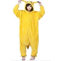 Unisex Adult Winter Pyjamas Pikachu Tier Pyjama Sets Sexy Homewear Flanell Nachtwäsche Weibliche Cute Cartoon Pyjama 2018