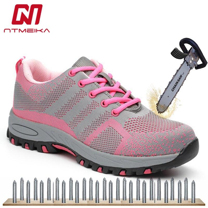 635f6274edd Talla grande 35-40 zapatos de seguridad para el trabajo para mujer zapatos  de acero