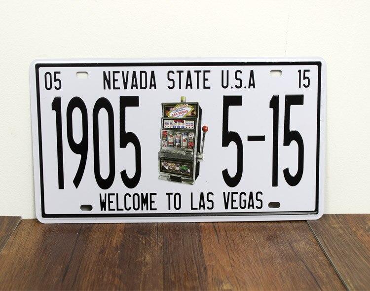 1905 5-15 Лас-Вегас США Винтаж Номерные знаки для мотоциклов Ретро Книги по искусству стены декор дома Бар d-84 смешанный заказ 30*15 см