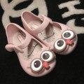 2017 del verano del bebé niños mini melissa escándalos búho verano de los niños de la jalea zapatos de la jalea sandalias de los bebés zapatos de las niñas