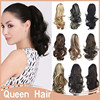 """1PC Synthetic Ponytail Extension 12"""" 30cm Natural Ponytail Pony Tail Claw In Drawstring Synthetic Ponytails P004"""