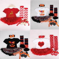 Newborn Christmas Clothes Baby Girl Clothing Set Lace Romper Dress First Halloween Outfits Funny Tutus Party Costumes 3 6 12 18M