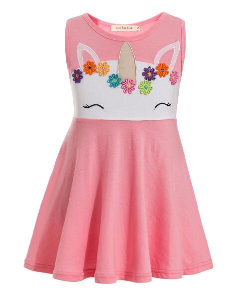 Phantasie Baby Mädchen Tutu Kleid Little Pony Kleid Einhorn Stirnband Weihnachten Halloween Kostüm Mädchen Party Kleider EINHORN kostüm