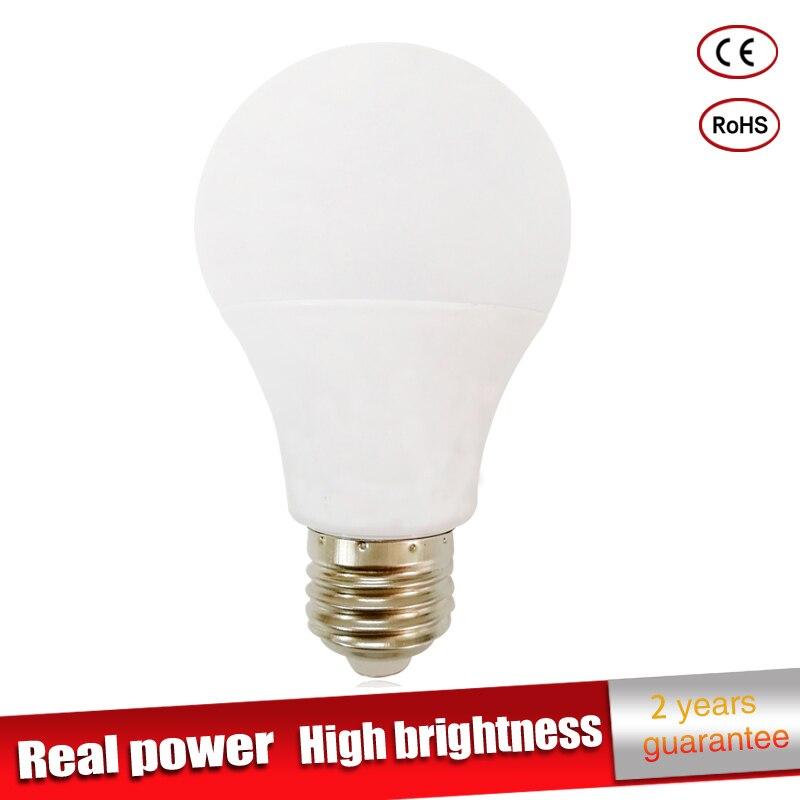 Real power Led Lamp E27 LED Bulb B22 110V 220V 230V led Light bulb 3W 5W 7W 9W 12W 15W SMD2835 lampadas led candle light