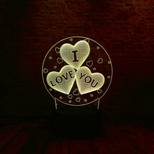 3D LED Hologram – Romantické Nočné svetlo – I love you LED Night Light