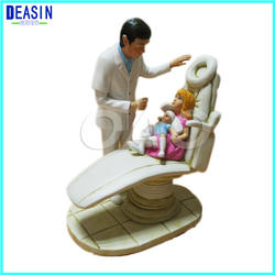 Стоматологическая клиника украшения меблировки творческих работ зубные Герой мультфильма Модель пара Скульптура пациента