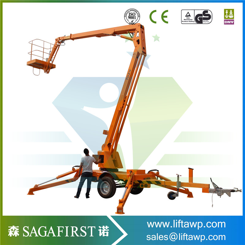 China 8m-16m Good Price Towable Boom Lift With CE