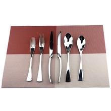 Silver Dinnerware Teaspoon-Party-Gift 304-Cutlery-Set Black Golden Fork Steak-Knife Stainless-Steel