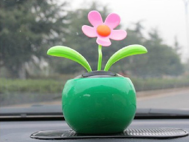 8cac2b8262a006 Flip Flap Moving Dancing Solar Power Flower Flowerpot Swing Solar Car Toy  Gift Home Decorating Plants gadget High Quality