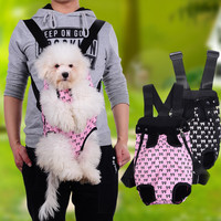 2017 New Fashion Dog Cat Pet Dog Puppy Carry Front Carrier Outdoor Backpack Bag With Cute