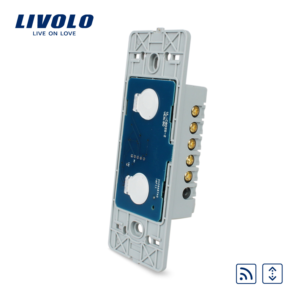 Livolo US Standard Base Of Touch Home Remote Curtains Switch ,Without glass panel,VL-C502WR