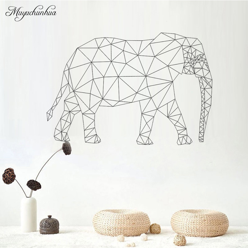 Muyuchunhua Big Elephants Wall Stickers for Kids Rooms Wall Stickers Home Decor Living Room Vinilos Decorativos Para Paredes