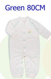 Комбинезоны для маленьких мальчиков и девочек, коллекция года, Одежда для новорожденных и малышей, детский хлопковый комбинезон с длинными рукавами, Красивый хлопковый комбинезон унисекс - Цвет: 80CM GREEN