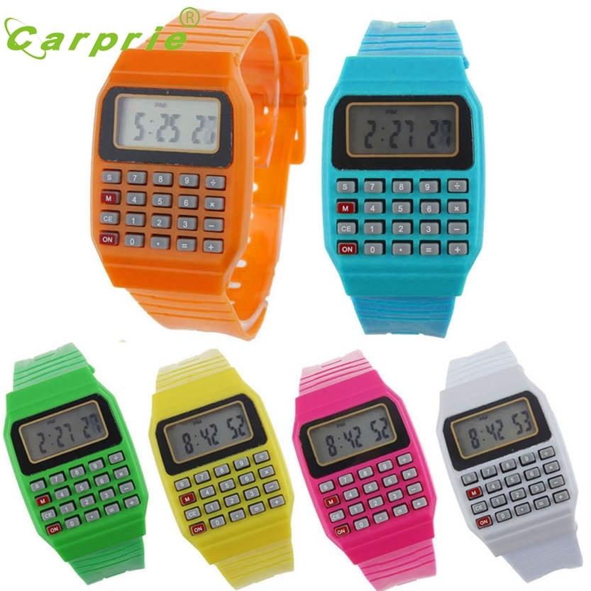 Del Unsex silikona daudzfunkcionālā datuma laiks elektroniskais rokas kalkulators Skatīties 29. augustu