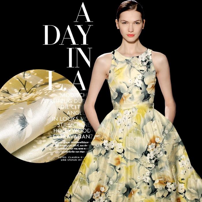 beautiful floral print silk fabric for   dress     evening     dress   shirt clothes cheongsam silk satin silk crepe de chine available
