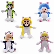 New Hot 5 Styles 7.5-9.5 Super Mario Bros Plush Doll Cat Luigi Toad Peach Rosalina Dolls Kids Gifts Stuffed Soft Toys