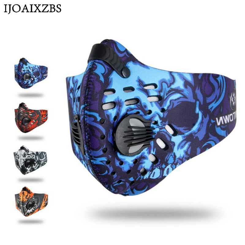 Dust Mask PM2.5 Activated Carbon Breathable Filter Outdoor Cycling Running Protection Winter Summer Autumn For Bike Face Mask